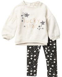 Jessica Simpson - Long Sleeve Pullover Top & Printed Leggings 2-piece Set (baby Girls) - Lyst