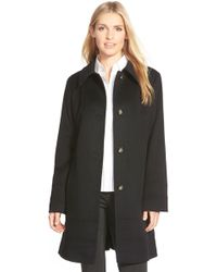 Fleurette - Wool Spread Collar Coat (petite) - Lyst