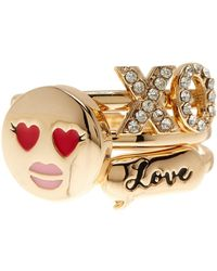 BCBGeneration - Enamel & Crystal Detail Expressions 3-piece Ring Set - Size 7 - Lyst