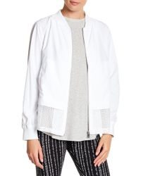 Warrior by Danica Patrick Active - Mesh Trim Bomber Jacket - Lyst