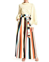 Gracia - Stripe Multicolor Wide Leg Pants - Lyst