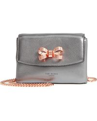 Ted Baker - Lupiin Metallic Leather Crossbody Bag - Lyst