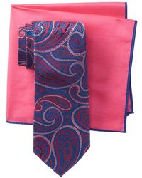 Ted Baker - Large Paisley Tie & Pocket Square Set - Lyst