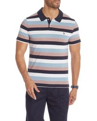 Original Penguin - Pique Stripe Short Sleeve Polo - Lyst