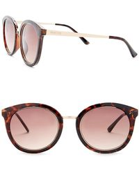 Kenneth Cole Reaction - Metal Round Injected Sunglasses - Lyst