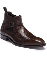 Mezlan - Genuine Lizard & Leather Chelsea Boot - Lyst