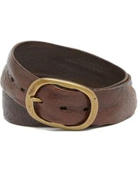John Varvatos - Artisan Tooled Leather Belt - Lyst