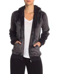 Pj Salvage - Cozy Hooded Zip Jacket - Lyst