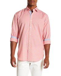 Bugatchi - Gingham Long Sleeve Classic Fit Shirt - Lyst