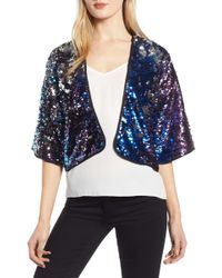 Trouvé - Sequin Open-front Cardigan - Lyst