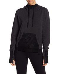Alo Yoga - Eclipse Long Sleeve Mesh Detailed Sweatshirt - Lyst