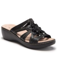 7f7376d5dcf7 Clarks - Delana Venna Sandal - Wide Width Available - Lyst