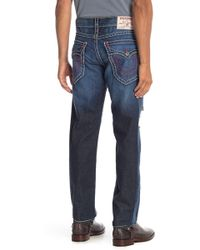 True Religion - Slim Flap Pocket Ripped Jeans - Lyst