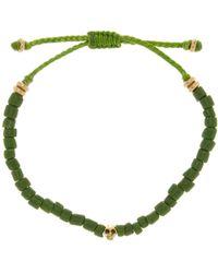 Link Up - Brass Skull Green Bead Bracelet - Lyst
