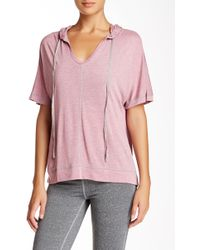 Electric Yoga - Hooded V-neck Tee - Lyst