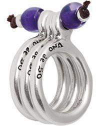 Uno De 50 - Hoop-hoop Beaded Stack Ring - Lyst