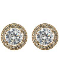 Nadri - Crystal Halo Stud Earrings - Lyst