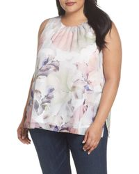 Vince Camuto - Diffused Blooms Blouse (plus Size) - Lyst