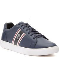Roberto Cavalli - Low Top Lace-up Leather Trainer - Lyst