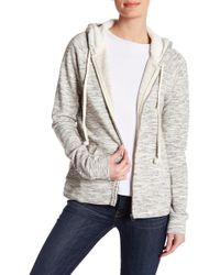 Lucky Brand - Patterned Faux Fur Lined Hooded Pullover - Lyst