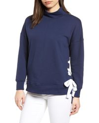 Gibson - Side Tie High Neck Sweatshirt - Lyst