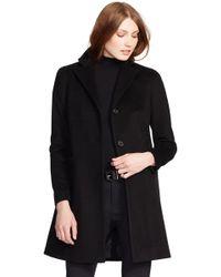 Lauren by Ralph Lauren - Reefer Wool-Blend Coat - Lyst