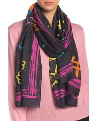 Love Moschino - Olive Oyl Drawing Woven Scarf - Lyst