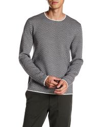 Theory - Crew Neck Print Merino Wool Sweater - Lyst
