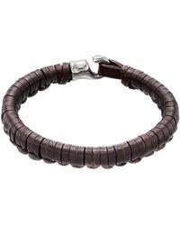 Uno De 50 - Hook Plaited Leather Bracelet - Lyst