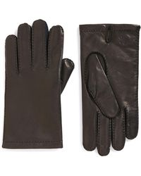 Hickey Freeman - Classic Contrast Leather Gloves - Lyst