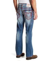 True Religion - Topstitch Flap Pocket Straight Leg Jeans - Lyst