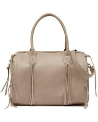 Urban Expressions - Baxter Whipstitched Vegan Leather Satchel - Lyst