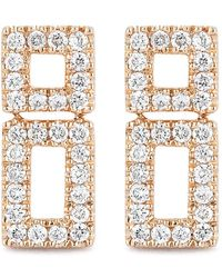 Dana Rebecca - 14k Rose Gold Diamond Accented Allison Joy Bar Earrings - 0.21 Ctw - Lyst