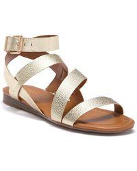 Franco Sarto - Gauge Leather Sandal - Lyst