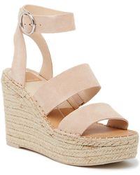 989b692ecfb4 Lyst - Dolce Vita Shaun Platform Wedge Sandal in White
