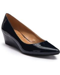 Calvin Klein - Garya Faux Leather Patent Wedge Flat - Lyst