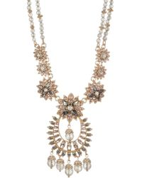 Marchesa - Drama Crystal Beaded Statement Pendant Necklace - Lyst