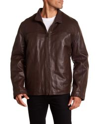 Cole Haan - Genuine Lamb Leather Jacket - Lyst
