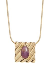 House of Harlow 1960 - Ribbed Valda Pendant Necklace - Lyst