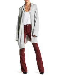 Fine by Superfine | Hooded Open Front Cardigan | Lyst