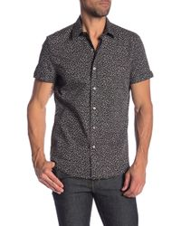 Parke & Ronen - Biscayne Short Sleeve Printed Slim Fit Shirt - Lyst