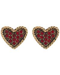 Marc By Marc Jacobs - Crystal Detail Heart Stud Earrings - Lyst