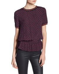 Juicy Couture | Nadia Geo Print Blouse | Lyst