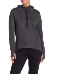 Marc New York - Solid Hi-lo Fleece Hoodie - Lyst