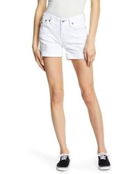 True Religion - Fray Cutoff Shorts - Lyst