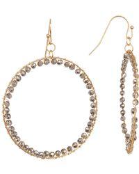 Panacea - Round Crystal Earrings - Lyst
