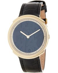 Ferragamo - Women's Logomania Croc Embossed Leather Watch, 35mm - Lyst