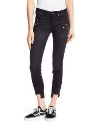 Dex - Metal Studded Cropped Slim Jeans - Lyst