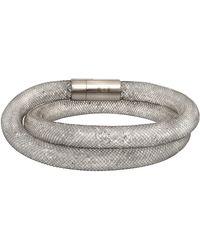Swarovski - Stardust Stainless Steel Crystal Filled Mesh Deluxe Bracelet - Lyst