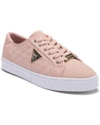 Guess - Graceen Quilted Lace-up Sneaker - Lyst